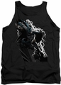 Justice League  tank top Batman Lighting Crashes mens black
