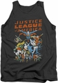 Justice League  tank top Big Group mens charcoal
