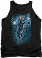 Justice League  tank top Black Lightning Bolts mens black