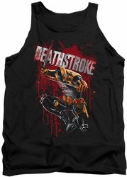 Justice League  tank top Blood Splattered mens black