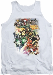 Justice League  tank top Brightest Day #0 mens white