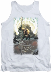 Justice League  tank top Brightest Day Aquaman mens white