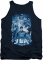 Justice League  tank top Burst mens navy