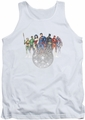 Justice League  tank top Circle Crest mens white