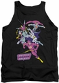 Justice League  tank top Colorful League mens black