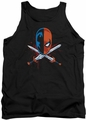 Justice League  tank top Crossed Swords mens black