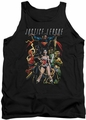 Justice League  tank top Dark Days mens black