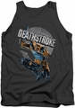 Justice League  tank top Deathstroke Retro mens charcoal