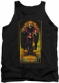 Justice League  tank top Deco mens black