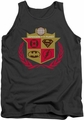 Justice League  tank top Defenders mens charcoal
