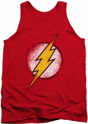 Justice League  tank top Destroyed Flash Logo mens red