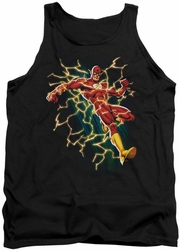 Justice League  tank top Electric Death mens black
