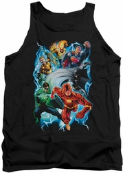 Justice League  tank top Electric Team mens black