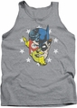 Justice League  tank top Face Off mens athletic heather