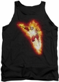 Justice League  tank top Firestorm Blaze mens black