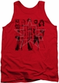 Justice League  tank top Five Stars mens red