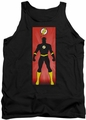 Justice League  tank top Flash Block mens black