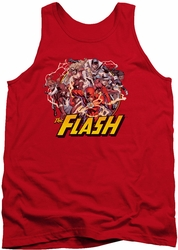 Justice League  tank top Flash Family mens red