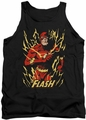 Justice League  tank top Flash Flare mens black