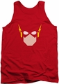 Justice League  tank top Flash Head mens red