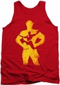 Justice League  tank top Flash Knockout mens red