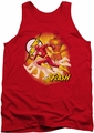 Justice League  tank top Flash Lightning Fast mens red