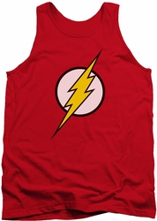 Justice League  tank top Flash Logo mens red