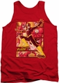 Justice League  tank top Flash mens red