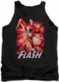 Justice League  tank top Flash Red & Gray mens black