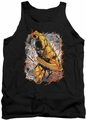 Justice League  tank top Flash Reversed mens black