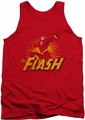 Justice League  tank top Flash Rough Distress mens red