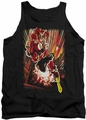 Justice League  tank top Flash Street Speed mens black