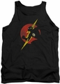 Justice League  tank top Flash Symbol Knockout mens black