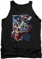 Justice League  tank top Galactic Attack Color mens black