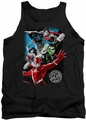 Justice League  tank top Galactic Attack mens black