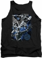 Justice League  tank top Galactic Attack Nebula mens black