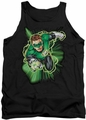 Justice League  tank top Green Lantern Energy mens black