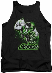 Justice League  tank top Green Lantern Green & Gray mens black