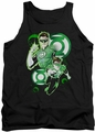 Justice League  tank top Green Lantern In Action mens black