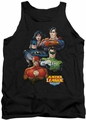 Justice League  tank top Group Portrait mens black