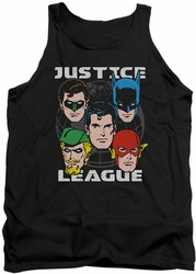 Justice League  tank top Head Of States mens black