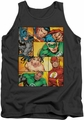 Justice League  tank top Hero Boxes mens charcoal