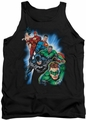 Justice League  tank top Heroes Unite mens black