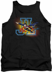 Justice League  tank top Heroes United mens black