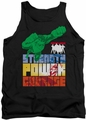 Justice League  tank top Heroic Qualities mens black