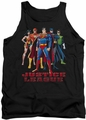Justice League  tank top In League mens black