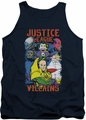 Justice League  tank top Justice For America mens navy