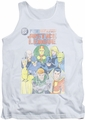 Justice League  tank top Justice League #1 Cover mens white