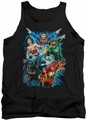 Justice League  tank top Justice League Assemble mens black
