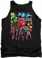 Justice League  tank top Justice League Panels mens black